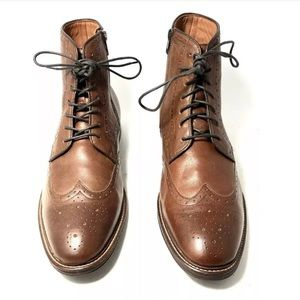 Johnston & Murphy Brown Warner Wingtip Boots
